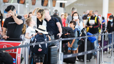 Airports were full of holidaymakers heading interstate on Good Friday.