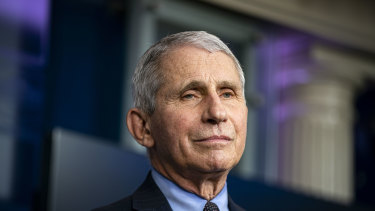 Dr Anthony Fauci, director of the National Institute of Allergy and Infectious Diseases.