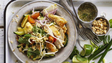 Roast chicken summer salad.
