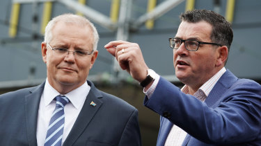 Prime Minister Scott Morrison and Premier Daniel Andrews have developed a 'bromance'.