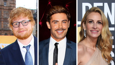 Ed Sheeran, Zac Efron and Julia Roberts are among the 21 people to be approved for independent quarantine in NSW.