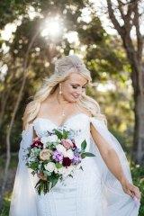 Hayley looked stunning on her wedding day.