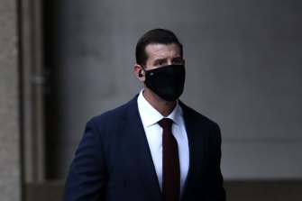 Ben Roberts-Smith arrives at the Federal Court in June.
