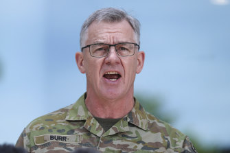 Lieutenant General Burr acknowledged it had been a difficult period for soldiers and their families.