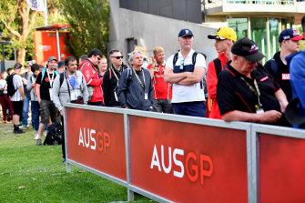 Spectators arrive at Albert Park, as uncertainty hangs over the Australian Grand Prix.
