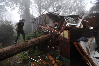 Violent storms have lashed parts of Victoria overnight.