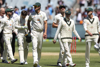 The Australians have been fined for a slow over rate.