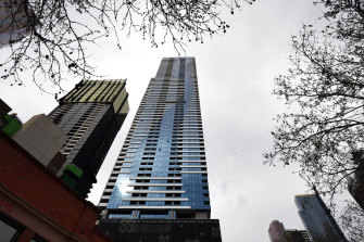 The Vision apartment complex on Elizabeth Street in Melbourne's CBD was added as a tier-2 exposure site on Wednesday.