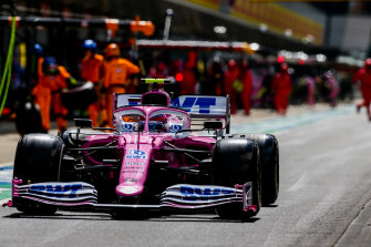 """The Racing Point cars have been nicknamed the """"pink Mercedes""""."""