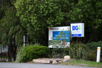 The BIG4 Holiday Park in Healesville where the man was killed by a falling tree branch on Saturday morning.