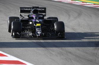 Daniel Ricciardo in the new Renault at Barcelona testing.