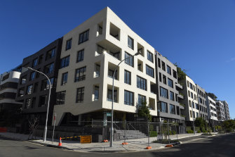 The Sugar Cube apartment building development in Erskineville has been delayed.