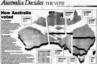 How Australia voted. First published in The Age on November 7, 1999.