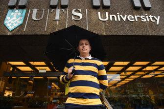 Sam Silcock is a student representative at UTS.