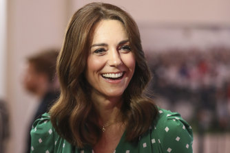 In a move straight from the Queen's playbook, Catherine wore all green, the Irish national colour, upon arrival for the royal couple's tour of Ireland.