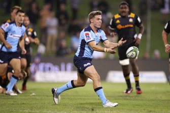 Will Harrison in action against the Chiefs in Wollongong on Friday night.