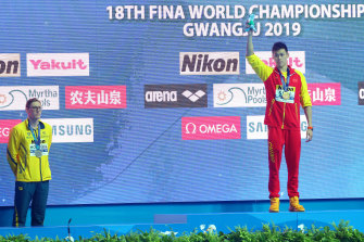 Mack Horton refused to stand on a podium with Sun Yang at the 2019 world championships.
