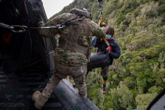 The crew of the Royal New Zealand Air Force NH90 helicopter involved in the successful search for Jessica O'Connor and Dion Reynolds in the Kahurangi National Park.