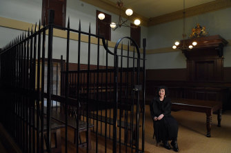 Architect Diane Jones in a courtroom at the Justice & Police Museum in Sydney.