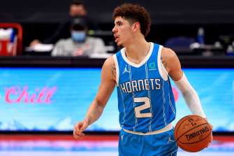 LaMelo Ball in action for the Hornets.