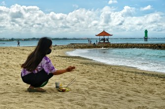 Sanur beach is a popular spot within one of the green zones in Bali.
