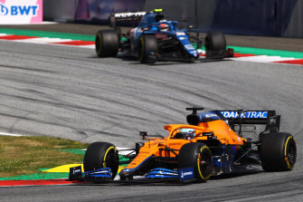 Daniel Ricciardo in his McLaren Mercedes during the F1 Grand Prix  in Spielberg, Austria, last month.
