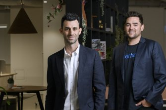 Wayne Baskin (left) and John Winters (right) launched share trading platform Superhero in September last year.