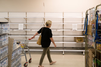 The shelves at Coles supermarket in Dubbo have been stripped of eggs, as panic-buying hits regional NSW.
