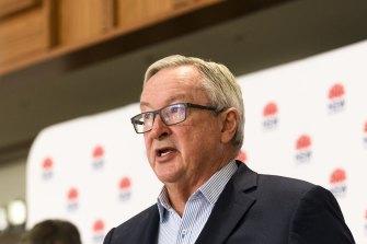 NSW Health Minister Brad Hazzard announces 163 new COVID-19 cases in NSW on Saturday.