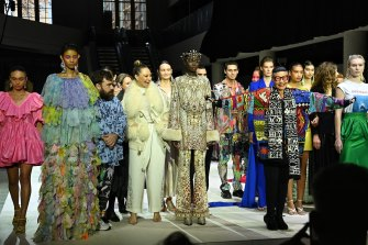 Designers, including Luke Sales, Camilla Franks and Jenny Kee, celebrate the Powerhouse Museum's fashion focus on Tuesday.