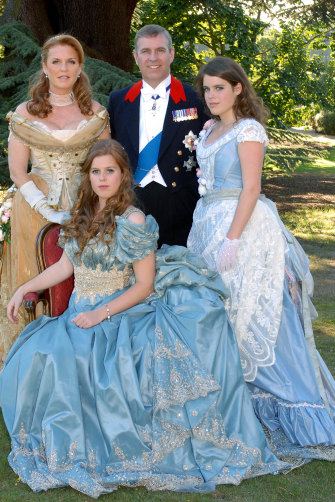 Andrew and Fergie with their daughters Beatrice (front) and Eugenie – both of whom have established their own careers – in 2006.