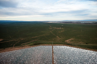 The 20-hectare Sundrop farm uses solar power and desalinated water from the Spencer Gulf.