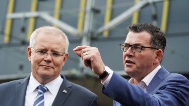 Prime Minister Scott Morrison and Premier Daniel Andrews have vowed to co-operate on Melbourne's airport rail project.
