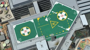 Some Melbourne hospitals, including the Royal Childrens, have helipads but they are less common on private developments.