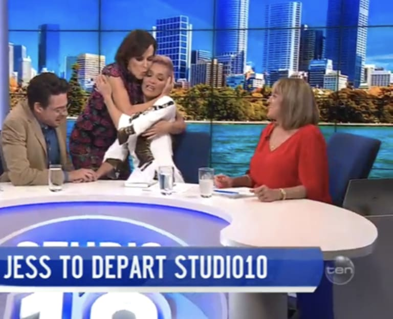 Natarsha Belling hugged Rowe after her announcement.