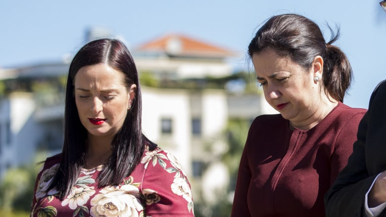 Keppel MP Brittany Luaga (pictured with Premier Annastacia Palaszczuk) has campaigned for name changes.