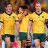 Michael Hooper and David Pocock will link up once against in Australia's back row to face England in Saturday's quarter-final.