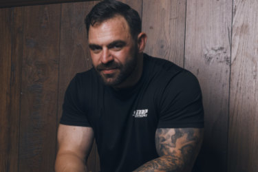 """Personal trainer James Blatch hopes that sharing his story will help others. """"I came from such a great family,"""" he says.""""But I was attracted to people I was a bit fearful of."""""""
