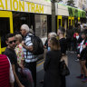 Tram boost to help ease footy crowd crush during train shutdown
