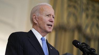 US President Joe Biden speaks about efforts to combat COVID-19.