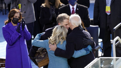 Sights, sounds, and a sob: highlights from Joe Biden's inauguration