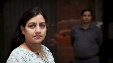 Amita Gupta, supported by her husband Santosh, has lost her unfair dismissal case against Uber Eats in the Fair Work Commission.