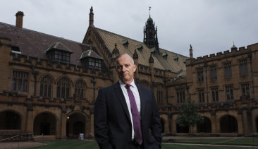 Vice-chancellor Michael Spence at the University of Sydney.