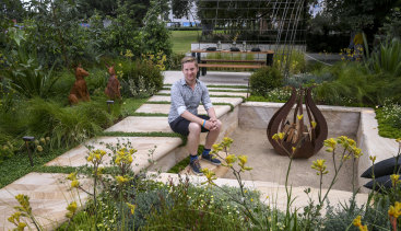 Ryan McMahon's garden titled 'Journey' at the Melbourne International Flower and Garden Show.