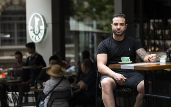 Steven Fadda, owner of White Rabbit Sydney cafe, won't be able keep all his staff as JobKeeper and rental subsidies end.