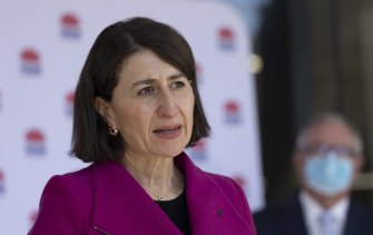 """NSW Premier Gladys Berejiklian said the latest outbreak """"was the scariest time since the pandemic started""""."""