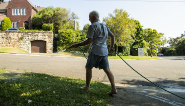 Using a hose to water lawns and gardens or wash cars will be forbidden under level 2 restrictions. Residents will need to use a bucket or watering can - and only at approved times.