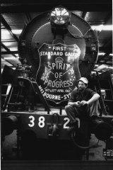 Jim Martin with Spirit of Progress', 38 class in 1990.