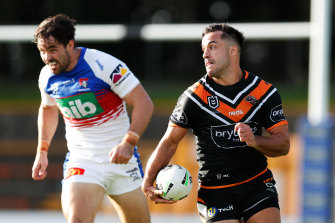 The 30-year-old Thompson has joined Gold Coast from the Tigers and offers much-needed strike power and experience to the Titans backline.