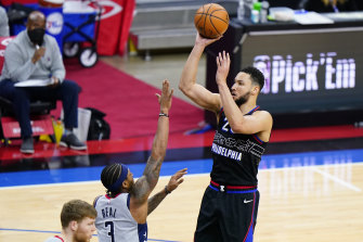 Simmons' shooting is always a hot topic.
